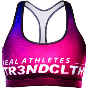 Tr3nd Clothing Sports Bra Real Athletes Lila