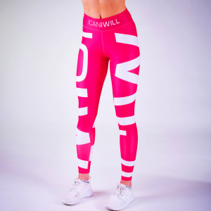 ICANIWILL ICIW Tights Pink White Women