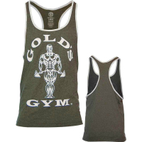 Golds Gym Contact Stringer Tank Top Army Cream