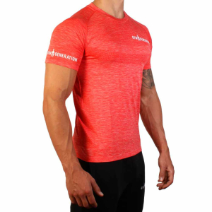Gym Generation Seamless Fitness Shirt Flame Red