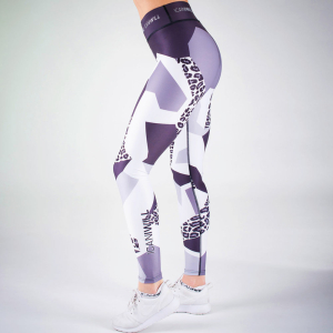 ICANIWILL Tights Leopard Grey White Women