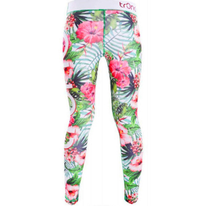 Tr3nd Clothing Tights Flower Wht