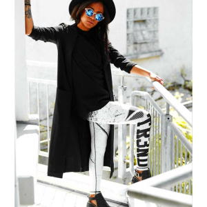Tr3nd Clothing Tights Black & White