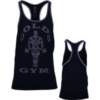 Golds Gym Contact Stringer Tank Top Black Grey