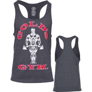 Golds Gym Classic Stringer Tank Top Grey Red