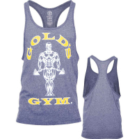 Golds Gym Classic Stringer Tank Top Grey Yellow