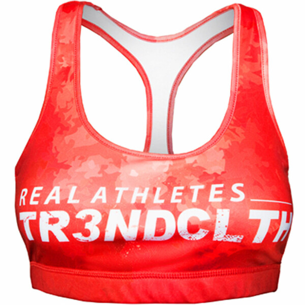Tr3nd Clothing Sports Bra Real Athletes Red