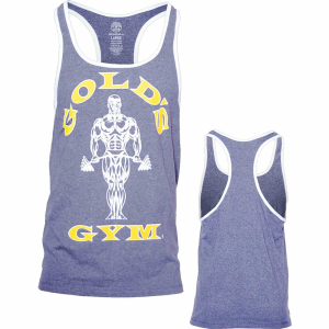 Golds Gym Contact Stringer Tank Top Grey White